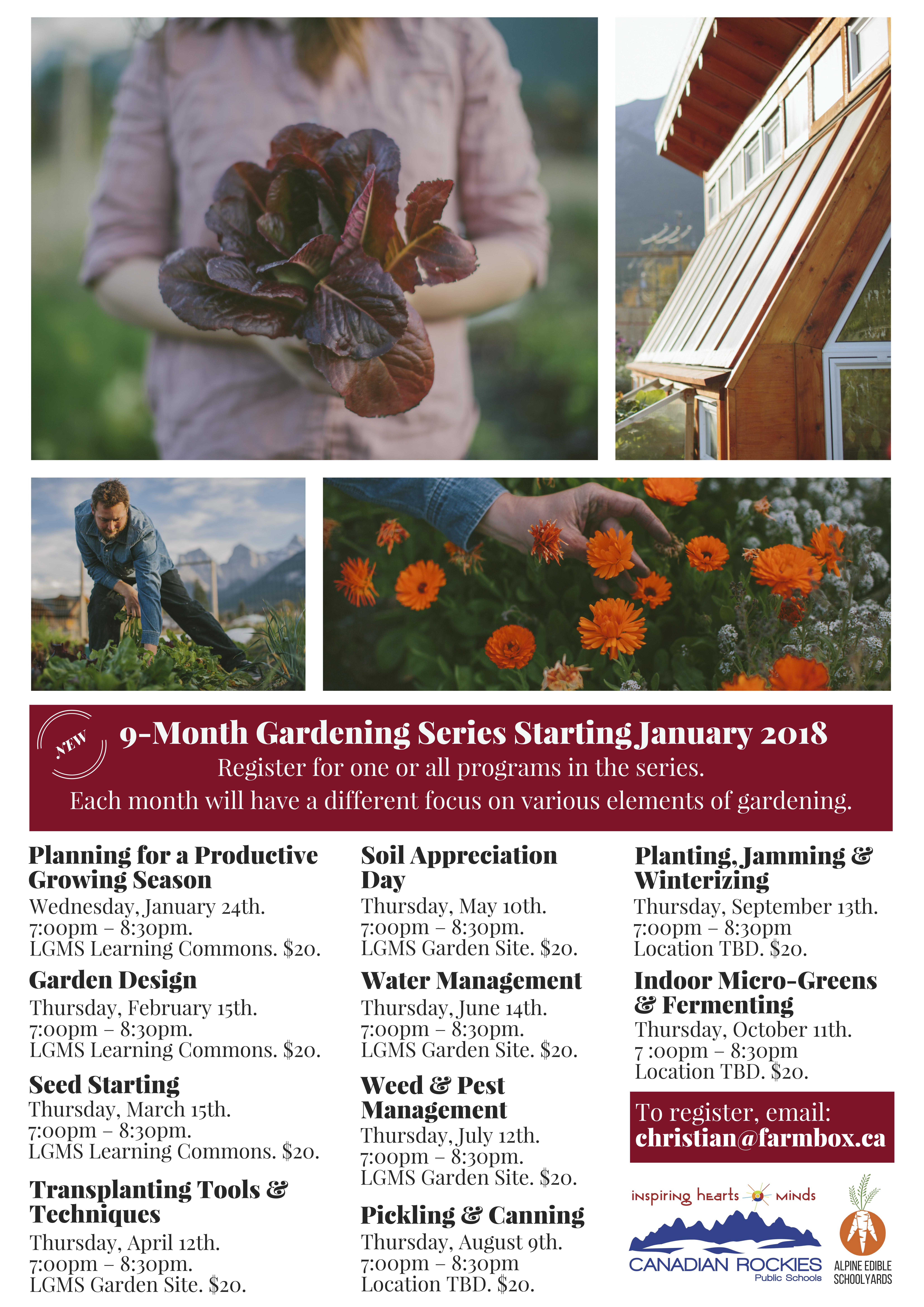 Monthly Gardening Workshops In The Bow Valley